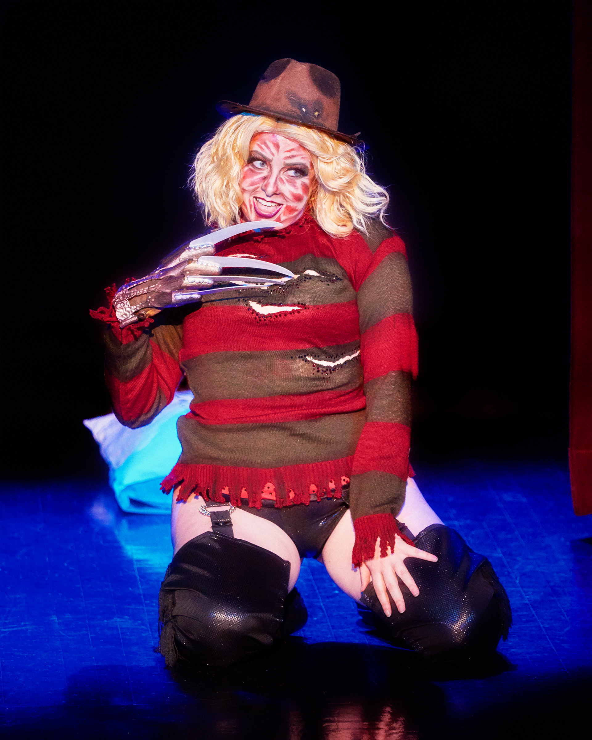 Betty Quirk as Freddy Krueger by Lick my Lenscap